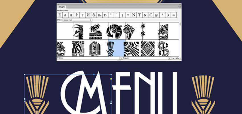How to Use InDesign Glyphs Panel
