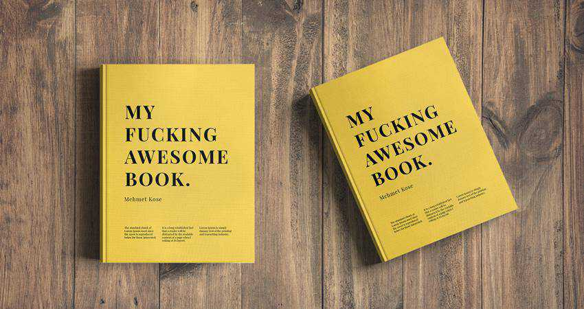Free Free Book Cover Mockup Photoshop PSD