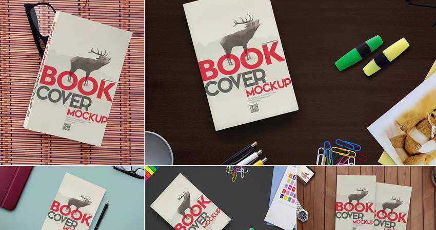 Customizable Book Mockups Photoshop PSD
