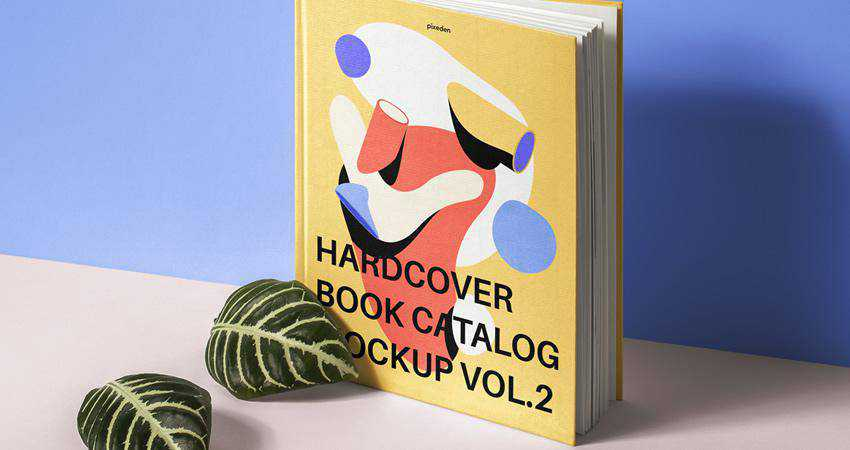 Free PSD Hardcover Book Catalog Mockup Photoshop PSD