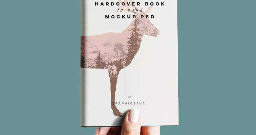 Free Hardcover Book In Hand Mockup Template Photoshop PSD