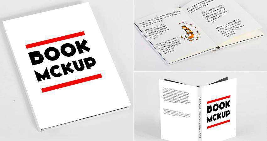 Minimal Book Mockup Templates Photoshop PSD