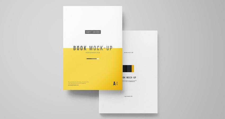 Free A4 Book Mockup Photoshop PSD