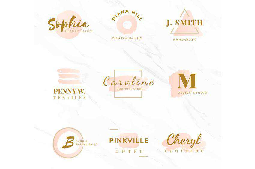 Beauty Fashion Logo Templates EPS