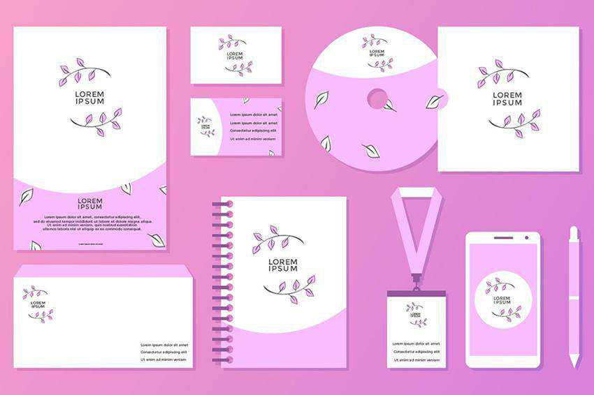Feminine Corporate Identity Template EPS SVG