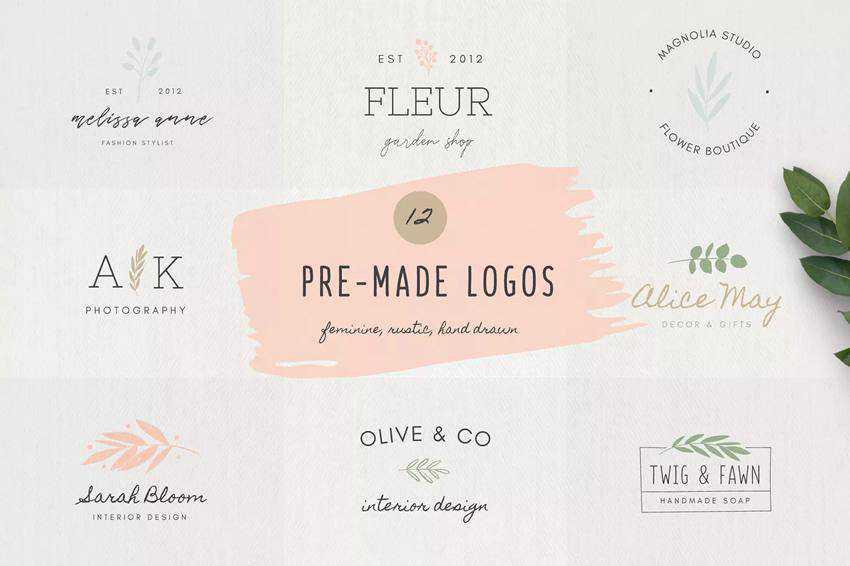 Pre-Made Feminine Logo Templates