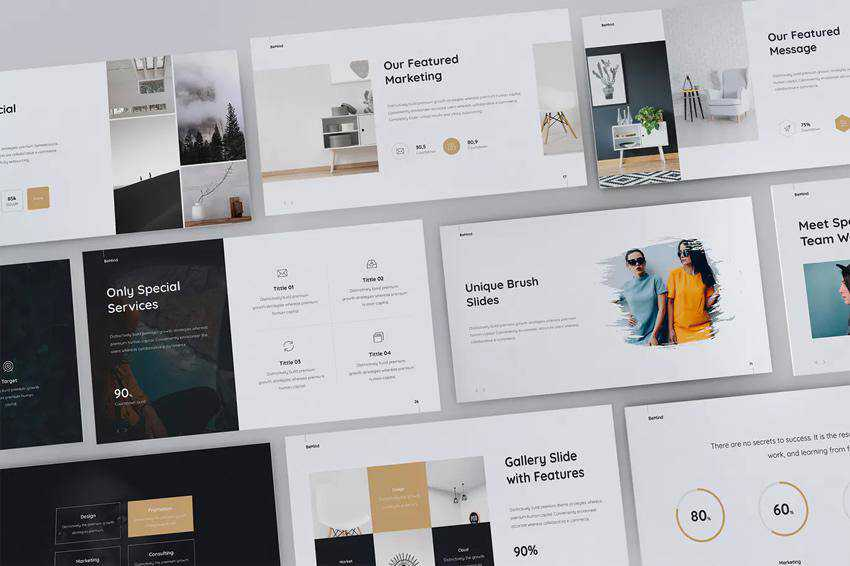 BeMind Minimal Business Powerpoint Template