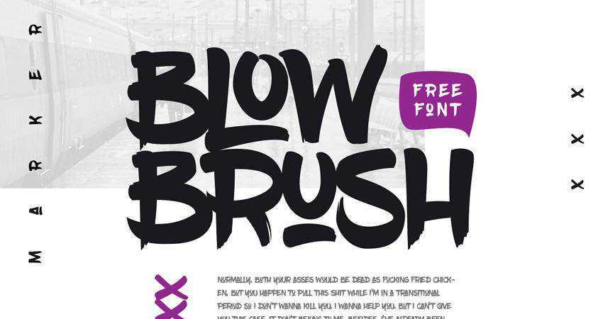 Free BlowBrush Font