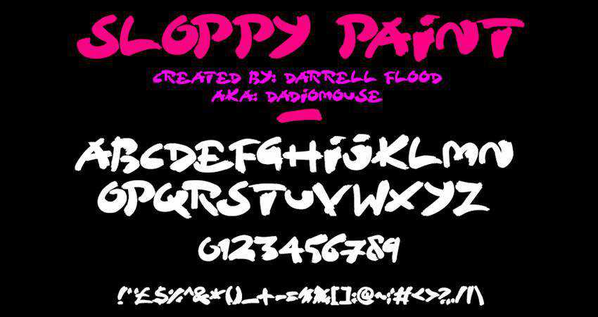Free Sloppy Paint Font