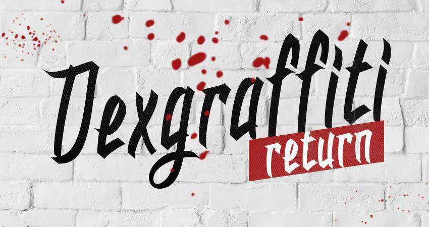Dexgraffiti Return Graffiti Font