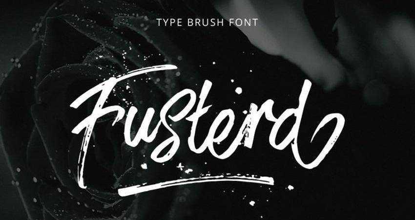 Free Fusterd Brush Font