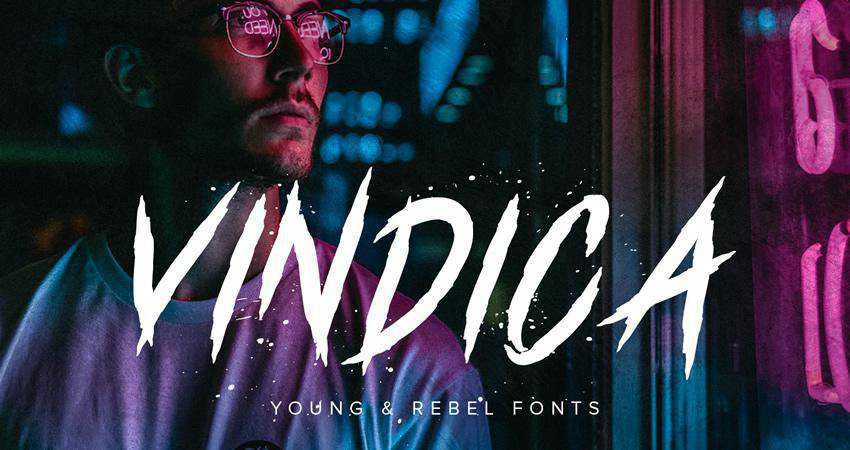 Free Vindica Rebel Brush Typeface