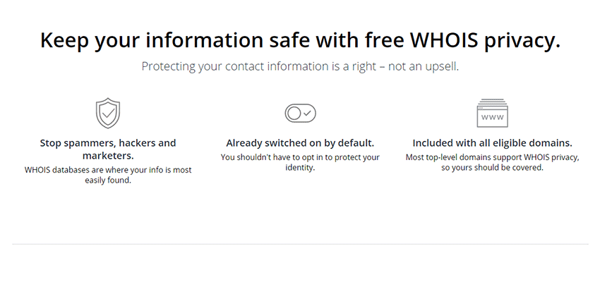 Free Whois Privacy at Hover
