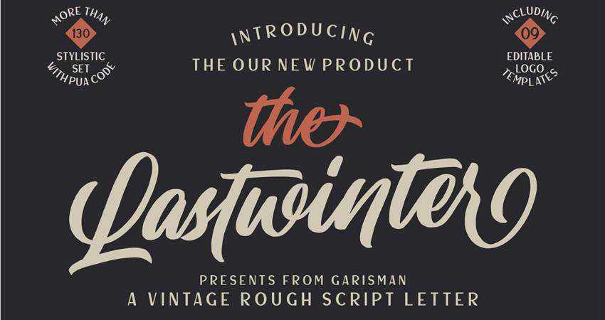 Free The Lastwinter Vintage Script Font