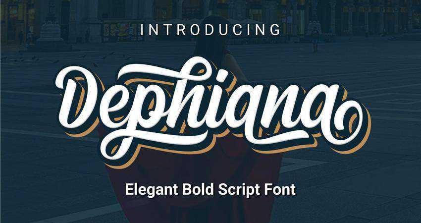 Free Dephiana Bold Script Font