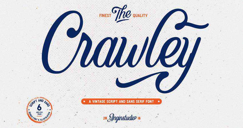 Free The Crawley Script Font