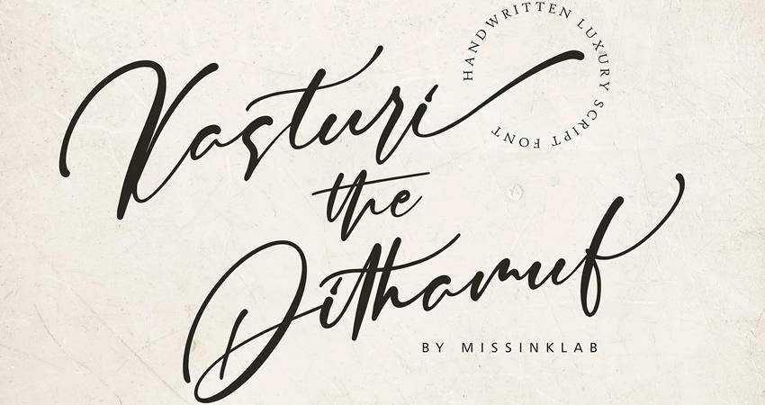 Kasturi Luxury Script Font