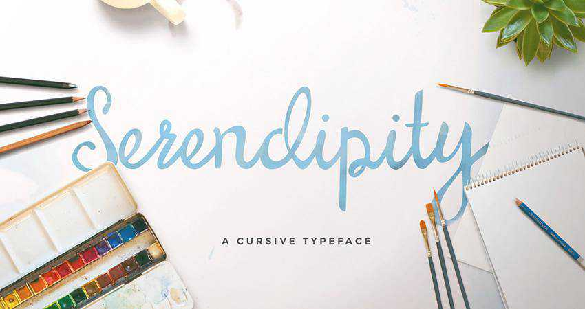 Free Serendipity Script Font