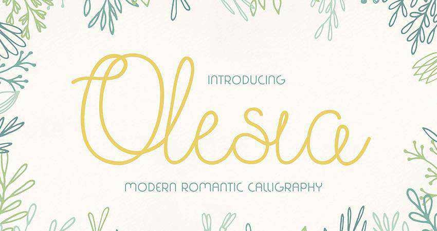 Free Olesia Font