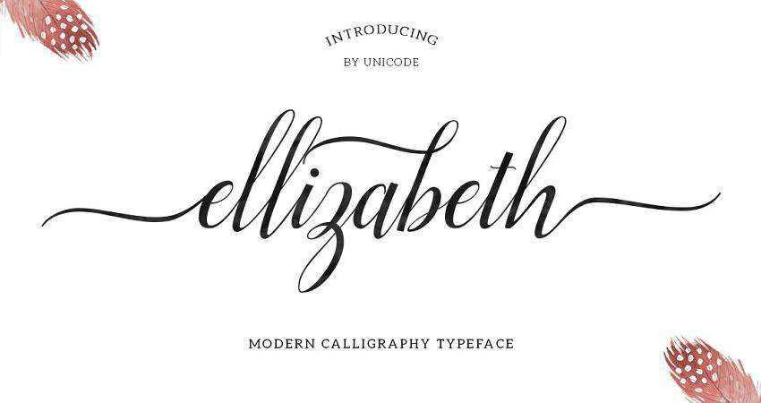 Free Ellizabeth Script Font