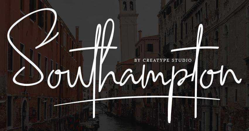 Free Southampton Signature Sctipt Font