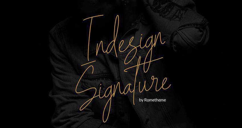 Free Indesign Signature Script Font