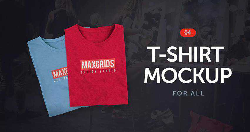 T-Shirt Mockup 04 Photoshop PSD
