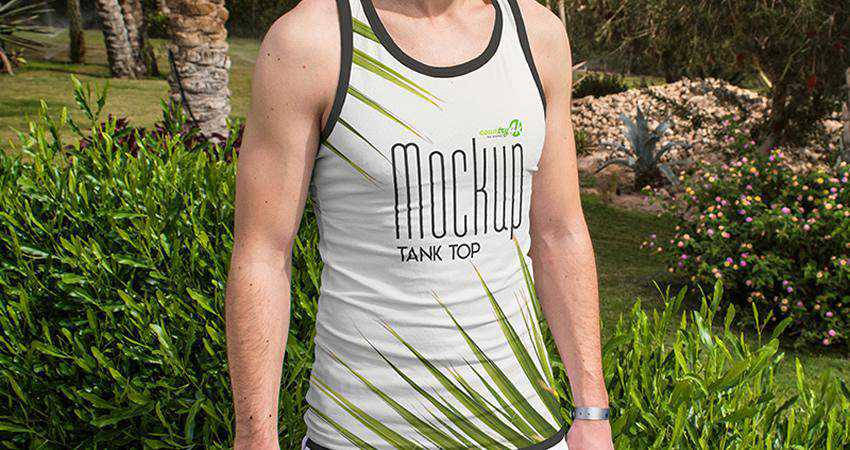 Free Tank Top PSD Mockup Templates Photoshop PSD