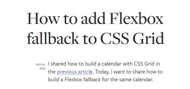 How to add Flexbox fallback to CSS Grid