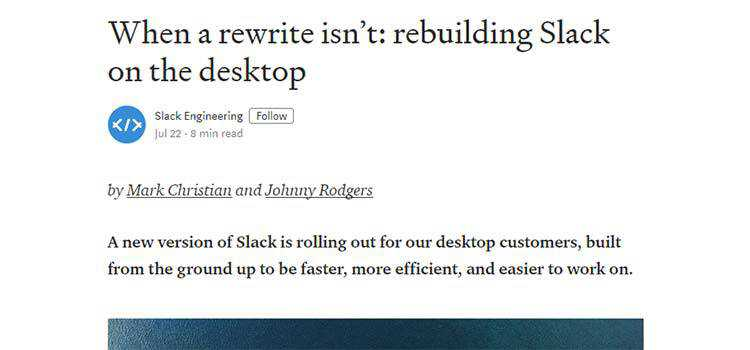 When a rewrite isn't: rebuilding Slack on the desktop