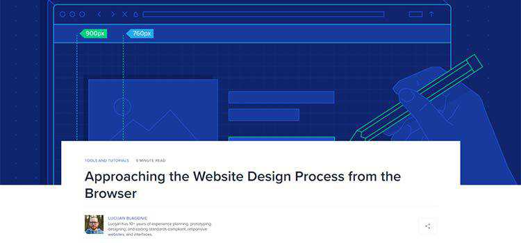 Approaching the Website Design Process from the Browser