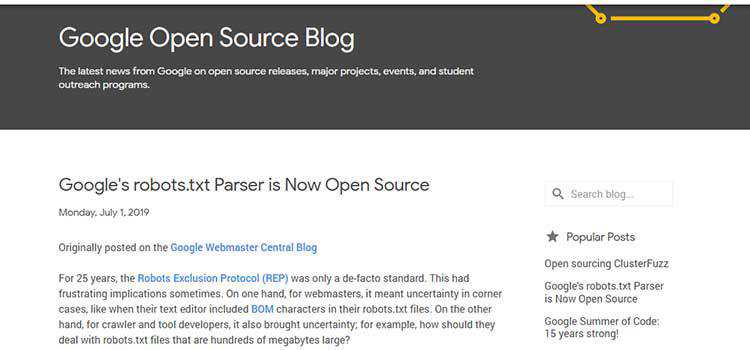 Google's robots.txt Parser is Now Open Source
