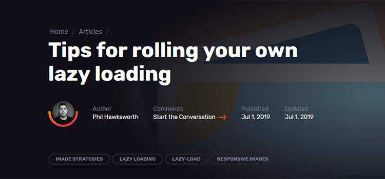 Tips for rolling your own lazy loading
