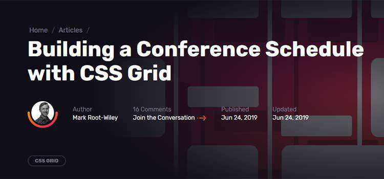 Building a Conference Schedule with CSS Grid