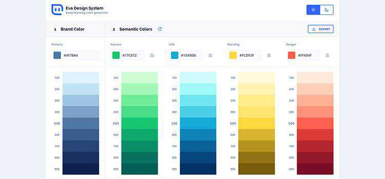 Eva Design System: Deep Learning Color Generator