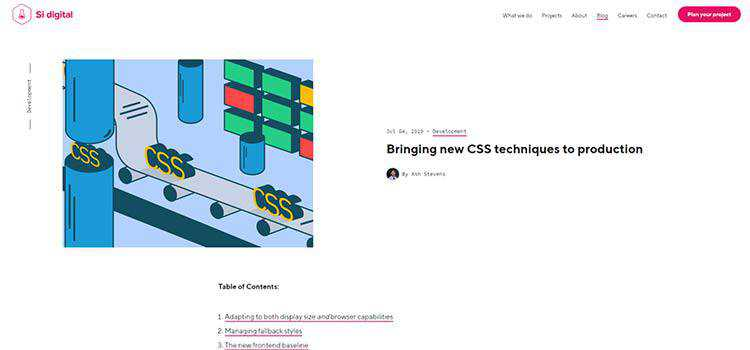 Bringing new CSS techniques to production