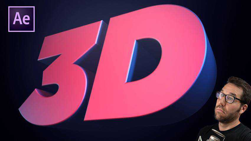 Create 3D Text Animation in After Effects