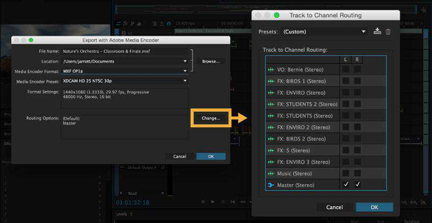 How to Export a Multitrack Session from Audition