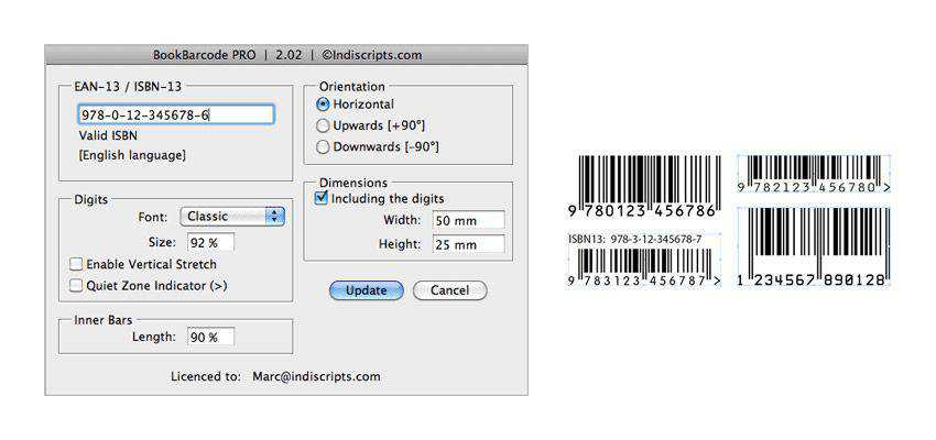 BookBarCode adobe indesign plugin
