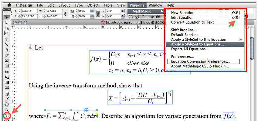 MathMagic adobe indesign plugin