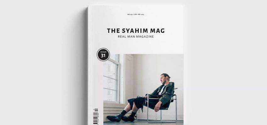 Magazine adobe indesign template