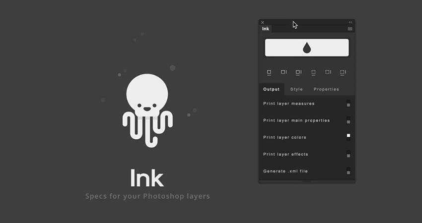 Ink Specs for your Photoshop Layers Plugin Extension