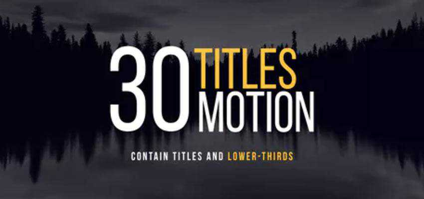 30 Apple Motion Titles