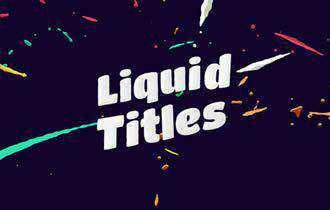 Liquid Animation Titles