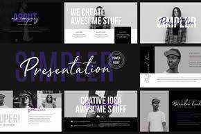 Simpler Presentation - Powerpoint Template