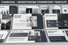 Monochrome Powerpoint Template