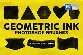 Geometric Ink Photoshop Stamp Brushes