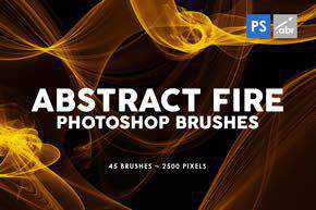 Abstract Fire Photoshop Stamp Brushes