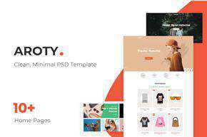 Minimal Shop PSD Template