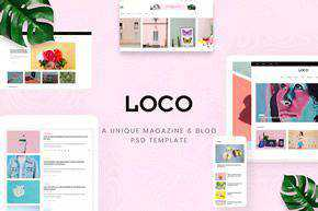 Magazine Shop PSD Template